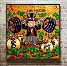 pop artist Painting Graffiti money art Alec Monopoly Banksy Mozart uncle arts by hand painted on canvas no frame x-251