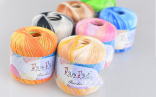 100g=2pcs Cotton Crochet Yarn Long Thin Section Stained With Bright Silk Lace Yarn For Hand-Knitting Baby Yarn