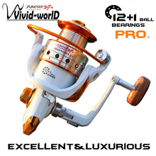 YUMOSHI Brand High quality Fishing reel 13 BB 5.5:1 Gear Ratio Spinning reel Metal main body foot Super strong reel + Rod Combo(China)