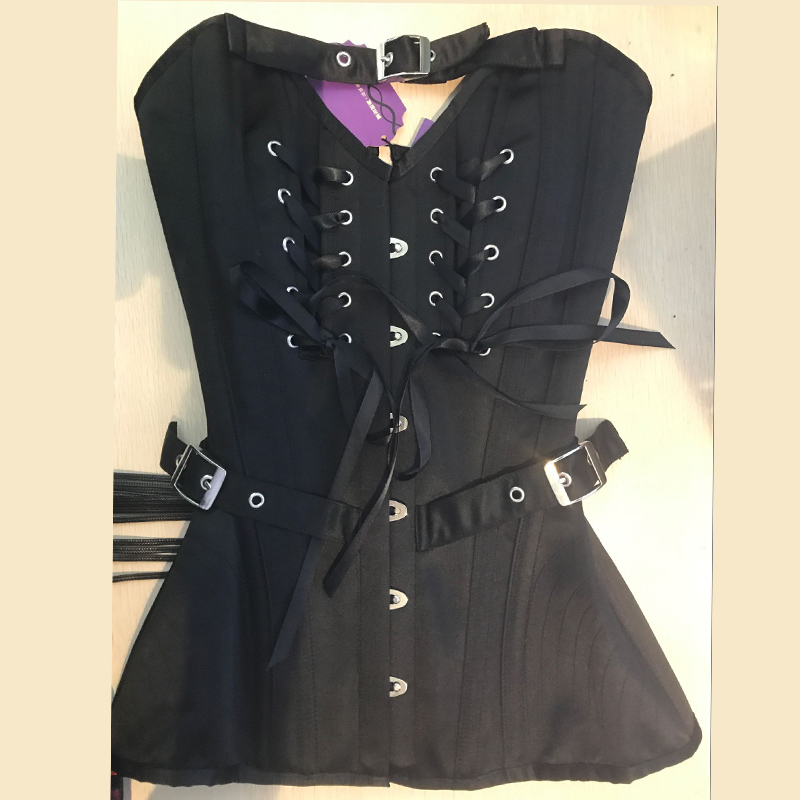 Annzley Black Lacing Overbust Corset  (3)