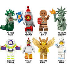 Single Sale PG8061 Building Blocks Gingerbread Man Medusa Rocket Boy Buzz Lightyear SuperHero Star Wars Bricks Kids DIY Toys(China)