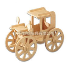 Hot style 3 d puzzles toys wooden children's educational DIY assembly simulation model of car manufacturers selling