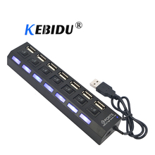 Kebidu 4 / 7 Port USB HUB Usb 2.0 Hub Multi Usb Splitter With On/off Switch 480 Mbps For MacBook PC Notebook Laptop For Windows(China)