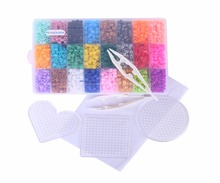 5mm 24 colour hama perler beads EVA for kids children DIY handmaking fuse bead Intelligence Educational Toys 4500pcs boxed set