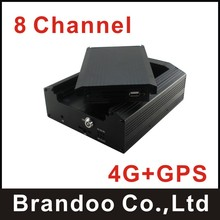 8 channel CAR DVR with 4G and GPS, used for police car, bus, taxi,train, support alarm recording and alert to CMS, MODEL BD-308