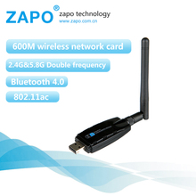 ZAPO 5G WIFI USB Bluetooth 4.0 Adapter 600Mbps Wireless 802.11ac Network Card 2dbi Antenna For All Windows Linux Android System(China)