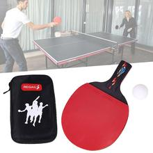 REGAIL New 1 Set Indoor Table Tennis Accessory Red Table Tennis Racket Ping Pong Paddle + Waterproof Pouch Bag + Ping Pang Ball(China)