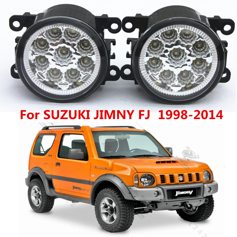 For SUZUKI  JIMNY FJ  Closed Off-Road Vehicle  1998-2014 Car styling front bumper LED fog Lights high brightness fog lamps 1set<br><br>Aliexpress