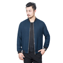 The latest brand name, quality men's jacket, spring leisure, slim man, plaid jacket, denim coat, jaqueta, male partner