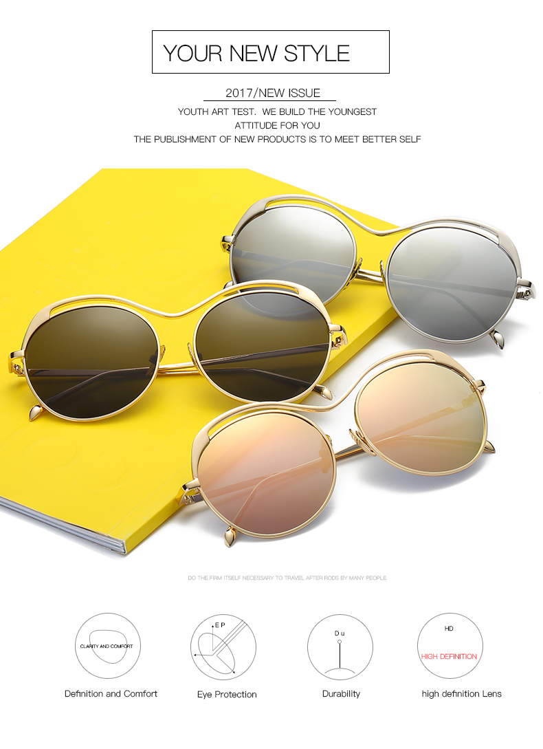 7babe6e0983 WESHION Women Sunglasses Polarized Round Mirrors Retro Ladies Sun ...