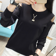 Buy Femme 2018 Autumn Fashion Color Patchwork T Shirt Women Long Sleeves Tshirt O-Neck Womens Clothing Mujer Black Yellow T-Shirts for $14.10 in AliExpress store