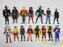 Superman Green Lantern The Flash The Atom Black Canary PVC Action Figures Collection Model Toys 15pcs/set