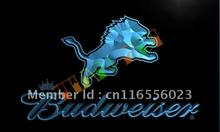 LD275- Detroit Lions Budweiser Bar LED Neon Light Sign