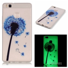 New Fashion Luminous night Slim phone Cases for Huawei Ascend P9 Lite P9 Mini Fluorescence Soft TPU Silicon Gel back cover skin