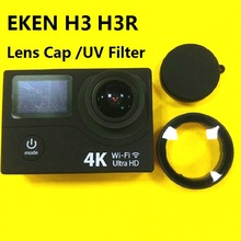 Original EKEN H3 H3R Anti Scratch Lens Glass UV Filter Lens Cap Silicone Protection Cover For EKEN Action Camera Accessories