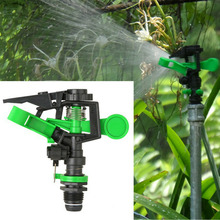 Plastic Metal Sprinkler Spike Lawn Grass 360 Degree Adjustable Rotating Water Nozzle Impulse Sprinkler For Garden Irrigation(China)