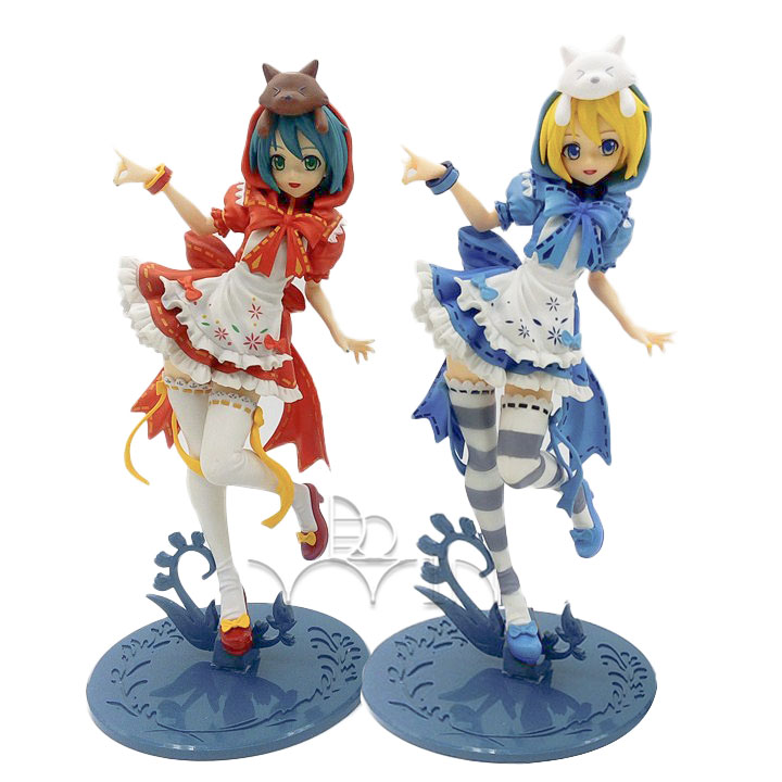 Anime Hatsune Miku Red blue Riding Hood Project DIVA 2nd PVC Action<br>