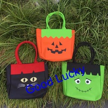 50pcs/lot free shipping Wholesale Personalized  Stylish Halloween Pumpkin Candy Tote Bag