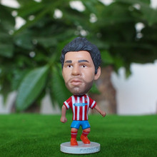 Kodoto 6.5*3.5 cm 2.55 inch resin Soccer Doll MA 19 diego costa Mini Resin Figure Office Doll Funny in white Kit With CE