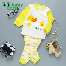 Children's Suit Baby Boy Clothes Set Cotton Long Sleeve Sets For Newborn Baby Boys Outfits Baby Girl Clothing Kids Suits Pajamas(China)