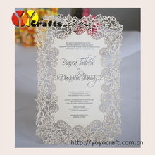 Printing service laser cut invitation cards models menu card 20pcs/lot paper(Printing included)