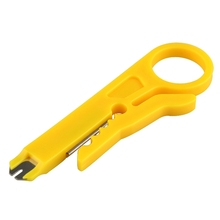 9cm Mini Strippers Network Cable Plier Yellow UTP STP Cable Cutter Telephone Wire Stripper 5X RJ45