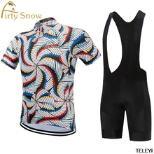 2018 NEW! Firty snow Cycling Jersey Short Jersey Ropa De Ciclismo Maillot Cycling Clothes Set Bike Wear Gel Pad Breathable(China)