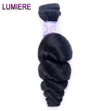 Peruvian Loose Wave Human Hair Weave 100% Remy Human Hair Bundles Natural Color One Bundle Free Shipping Lumiere Hair Extentions(China)