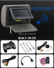 2014 new hot 7 Inch Car DVD headrest for all car