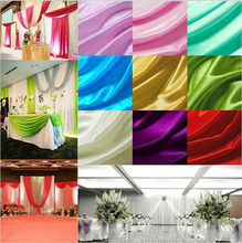 150cm 59inch Width Quality Pearly lustre ice silk cloth fabric gauze curtain wedding backdrops decoration 5Meters/lot