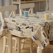 Linen Table Cloth Europe Letter Stamp Home/Outdoor/Party Table Cover Toalha De Mesa Manteles Para Mesa Nappe De Table Tablecloth