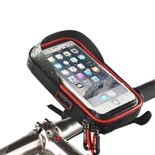 6.0-inch Waterproof Bicycle Handlebar Cycling Phone Holder Bag Creative Fixed Phone Case -Three colors for choice(China)