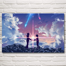 Your Name Japanese Anime Movie Art Silk Poster Print Home Decor Painting 12x19 15x24 19x30 22x35 30x48 Inches Free Shipping(China)