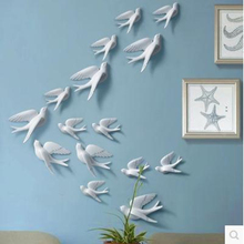Resin three-dimensional bird, peace dove Wall Stickers Crafts