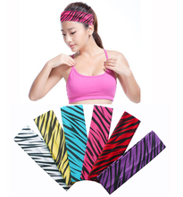 2 inch Zebra Printing Cotton Stretch Headbands Joggin Sports Girls Hair Bands Bandage On Head Gum Turban Bandana