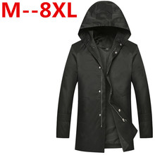 8XL Men Jacket Coat Long Section Fashion Trench Coat Jaqueta Masculina Veste Homme Brand Casual Fit Overcoat Jacket Outerwear