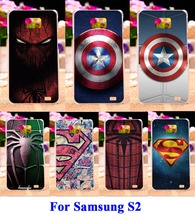 TAOYUNXI Hard Plastic and Soft TPU Cell Phone Bagss For Samsung Galaxy SII I9100 S2 Cases DIY Captain America Phone Cover Hood
