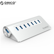 ORICO M3H7 Good Quality High-Speed Aluminum With Vl812 Chipset 7 Port USB HUB 3.0 For Mac book - Silver(China)
