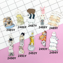 Acrylic Brooch Pins Cat Dog Giraffe Rabbit Brooches Women Men Jewelry Shoes Package Clothes Accessories Japan Harajuku Badges