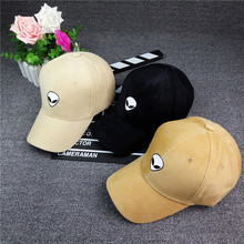 Corduroy Baseball cap black flat along the edge of the embroidery alien pattern caps male and female couple tide hat C1048