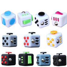 12 Fidget Vinyl Desk Toy 9 TypeStress Relief for Adults and Children Hand Spinner Fidget Cube With Button Anti Irritability Toy