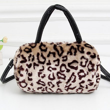Women's Handbag Shoulder Bags Plush Leopard Messenger Bag Crossbody Bag for Female Party Clutch Bag Christmas Gift bolsos mujer(China)