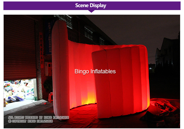inflatable wall with led lighting for events (2)
