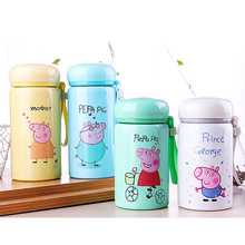 Cute Pig Vacuum Cup Cartoon Milk Thermos Girls Insulated Child Drinking Thermoses Stainless Steel Vacuum Flasks Cup(China)