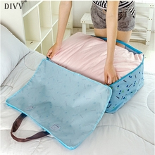 DIVV 58 x 40 x 24cm Bamboo Charcoal Clothing Storage Bag Quilt Storage Case Bedding Organizer GIfts Oxford Cloth