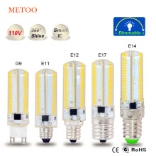 4014 Corn Light 152 Leds Lampada Led E11 E12 E17 G9 127V 110V 100V Silicone Crystal Candle chandelier Christmas Light(China)