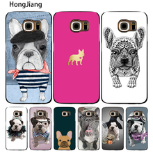 HongJiang french bulldog puppies dog cute cell phone case cover for Samsung Galaxy S7 edge PLUS S8 S6 S5 S4 S3 MINI(China)