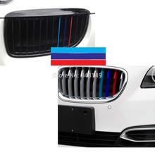 Car Styling ///M Sports Stickers Front Grille Decals for BMW X1 X3 X5 X6 3series 5 Series 7 Series(China)