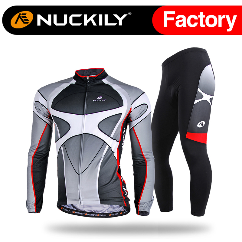 Nuckily autumn breathable cool design mountain bike mens long sleeve cycling clothing set<br><br>Aliexpress