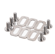 1Set Titanium Ti Bolts Spacers For LOOK KEO Road Bike Clipless Pedals Cleats Self-locking Pedals Bolts(China)
